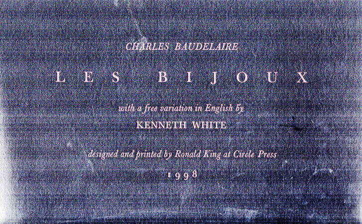 Les Bijoux. by CIRCLE PRESS. BAUDELAIRE, Charles.