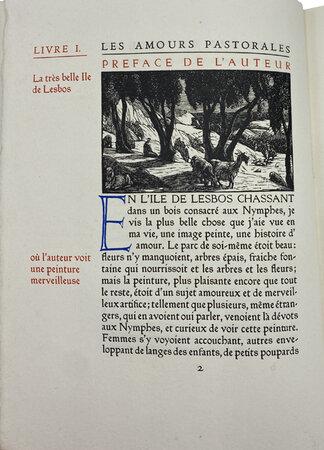 Les Amours Pastorales de Daphnis & Chloe. by ASHENDENE PRESS. LONGUS. RAVERAT, Gwen.