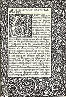 The Life of Cardinal Wolsey. by KELMSCOTT PRESS. CAVENDISH, George.