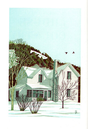 A House in the Country. by SCHANILEC, Gaylord. MIDNIGHT PAPER SALES. LOGUE, Mary.