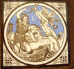 Another image of Six Minton tiles inspired by Tennyson's 'Idylls of the King'. by MOYR SMITH, John.