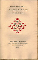 A Plurality of Worlds. by NONESUCH PRESS. DE FONTENELLE, Bernard.