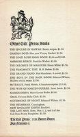 The Old Pacific Capital. Robert Louis Stevenson's Story of Monterey. by COLT PRESS. STEVENSON, Robert Louis.