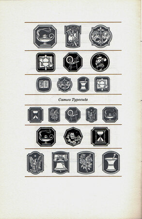 Typographic Embellishers. Some Specimens from the collection used at the Adagio Press. by ADAGIO PRESS.