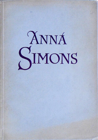 Anna Simons. by [BREMER PRESSE]. HOLSCHER, Dr. Eberhard.