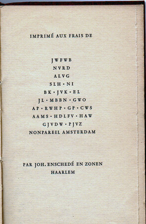 Les Bacchanales ou le Folastrissime Voyage d'Hercueil pres Paris. by ENSCHEDE EN ZONEN, Joh. RONSARD, Pierre de.