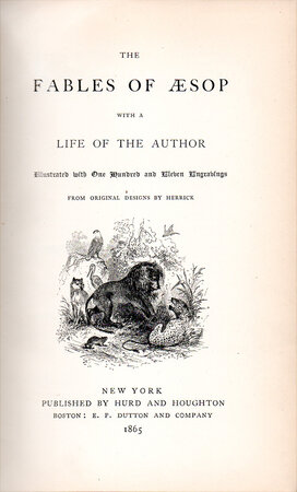 The Fables of Aesop with a Life of the Author. by FABLES. AESOP. HERRICK.