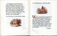 Thomas Bewick, 1753-1828, an Essay by Llewelyn Powys, to which is now added: A Letter from England from Alyse Powys. by GRAVESEND PRESS. POWYS, Llewelyn. BEWICK, Thomas.