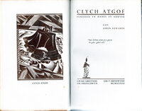 Clych Atgof. by GREGYNOG PRESS. EDWARDS, Owen.