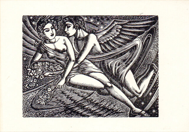 Zephyrus and Flora. by BUCKLAND WRIGHT, John.