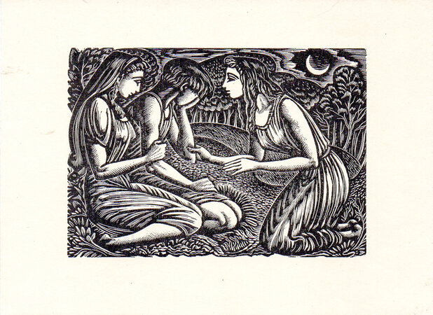 Endymion, Cynthia [the Indian Maiden] and Peona. by BUCKLAND WRIGHT, John.
