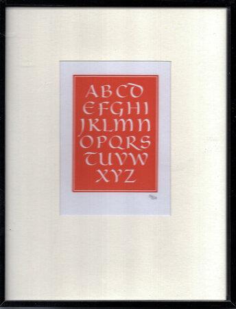 A Suite of Little Alphabets engraved in wood by Leo Wyatt. by FLORIN PRESS. WYATT, Leo.