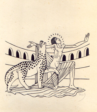 The Martyrdom of St. Saturus. by GILL, Eric.