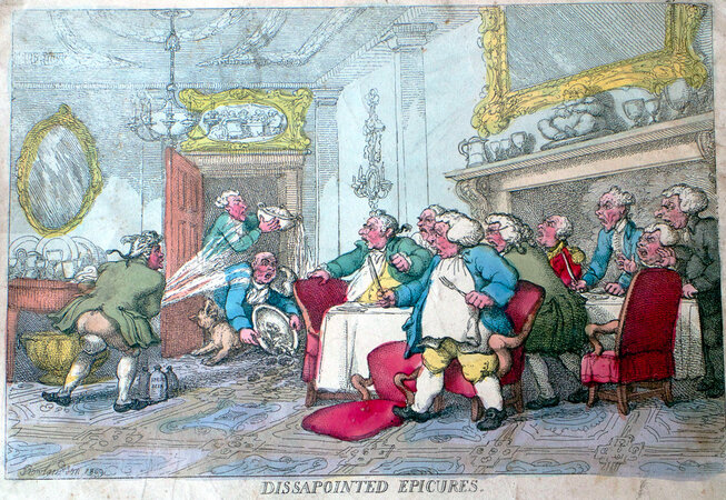 Dissapointed Epicures. by ROWLANDSON, Thomas.