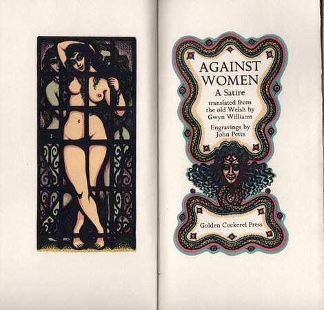 Against Women. A Satire. by GOLDEN COCKEREL PRESS. PETTS, John.