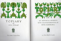 Topiary. by GOLDEN COCKEREL PRESS. BARKER-MILL, Peter. STEWART, Cecil.