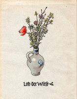Lob der Wiese. by GERMAN PRINTING. LOMETSCH, Fritz. WAGGERL, Karl Heinrich.