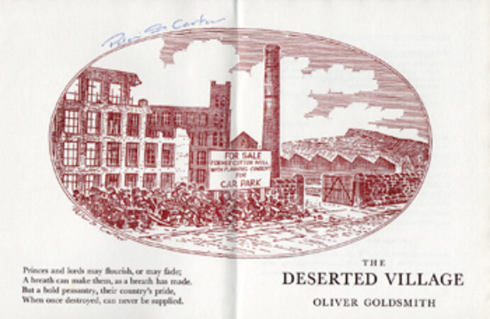 The Deserted Village. by INCLINE PRESS. GOLDSMITH, Oliver.