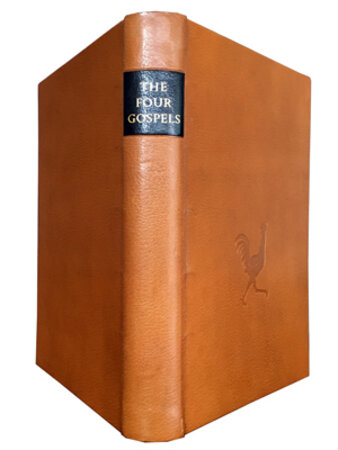 The Four Gospels of the Lord Jesus Christ, According to the Authorized Version of King James I. Facsimile of the book published by The Golden Cockerel Press, 1931. by GILL, Eric. SKELTON, Christopher.