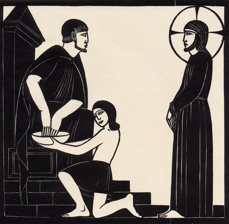 Christ Before Pilate. by GILL, Eric (1882-1940)