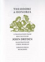 Theodore and Honoria. by LIBANUS PRESS. WALKIN, Carol. DRYDEN, John.
