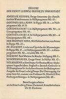 Die Handpresse. by ERNST LUDWIG PRESSE. KLEUKENS, Christian Heinrich.