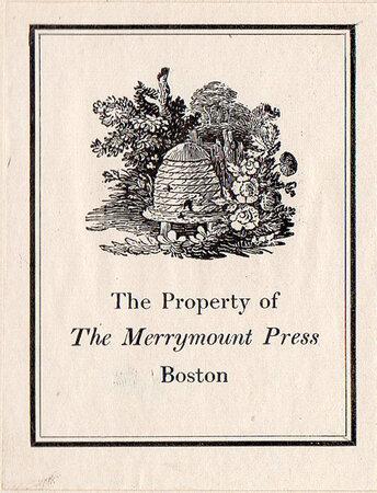 All About Mother Goose. by MERRYMOUNT PRESS. UPDIKE, D.B. STARRETT, Vincent.