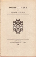 Poems to Vera. by MERRYMOUNT PRESS. STERLING, George.