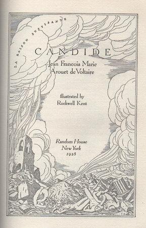 Candide. by KENT, Rockwell. VOLTAIRE, Jean Francois Marie Arouet de.