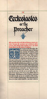 Ecclesiastes or the Preacher. by NASH, John Henry.