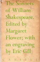 The Sonnets of William Shakespeare. by GILL, Eric. FLOWER, Margaret.