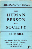 The Human Person and Society. by GILL, Eric.