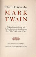 Three Sketches by Mark Twain. by OVERBROOK PRESS. TWAIN, Mark.