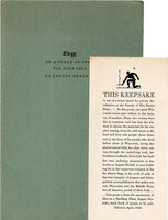 Elegy: on a flake of snow. For Zona Gale. by PRAIRIE PRESS. DERLETH, August.