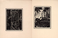 7 original Christmas Cards each with an original wood engraving. by BUCKLAND WRIGHT, John. N.V. HOUTINDUSTRIE, PICUS, EINDHOVEN