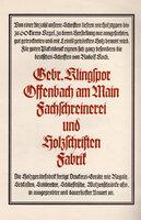 Wilhelm Klingspor-Schrift und Schrift-Zierat nach Zeichnungen von Rudolf Koch. by GEBR. KLINGSPOR. KOCH, Rudolf.
