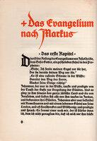 Die vier Evangelien Markus, Lukas, Matthaus und Johanne in der Ubersetzung von Martin Luther. by KOCH, Rudolf.
