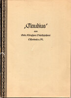 """""""Claudius"""" by Gebr. Klingspor, Schriftgiesserei. by KLINGSPOR. KOCH, Rudolf."""