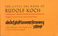 The Little ABC Book of Rudolf Koch. Designs by Rudolf Koch and Berthold Wolpe. by KOCH, Rudolf & WOLPE, Berthold.