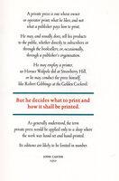 Typographia 1. Typographia 2. by ADAGIO PRESS. BAHR, Leonard F.