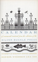 Calendar of ornamental material from the Silver Buckle Press. by SILVER BUCKLE PRESS.
