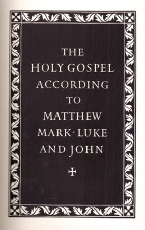 The Holy Gospel According to Matthew, Mark, Luke & John. by OFFICINA BODONI. STONE, Reynolds.