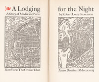 A Lodging for the Night: A Story of Medieval Paris. by ROLLINS, Carl Purington. STEVENSON, Robert Louis.