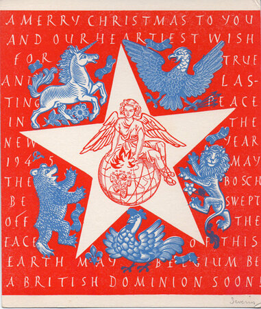 22 original Christmas Cards. by SEVERIN, Mark.