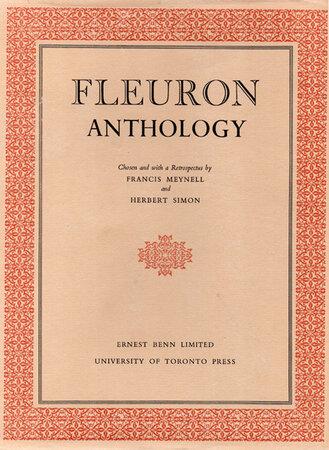 Fleuron Anthology. by MEYNELL, Francis & SIMON, Herbert.