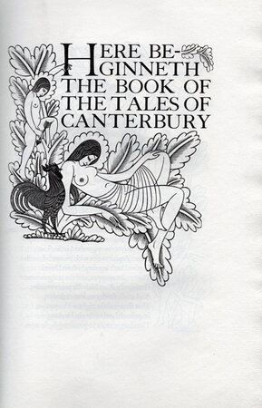 The Canterbury Tales by Geoffrey Chaucer. by GILL, Eric. GOLDEN COCKEREL PRESS.