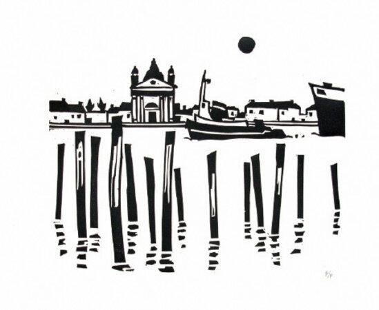 Portfolio of 6 original linocuts by Kyffin Williams. by WILLIAMS, Kyffin. GWASG GREGYNOG.