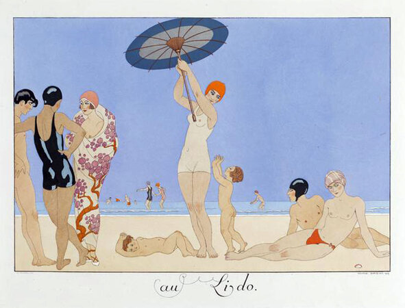 Le Bonheur du Jour ou Les Graces a la Mode. by BARBIER, George.