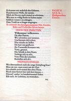 Faust I & II: Eine Tragoedie von Goethe. by DOVES PRESS. GOETHE.