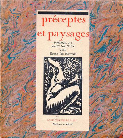 Préceptes et Paysages. by BONGNIE, Emile de.